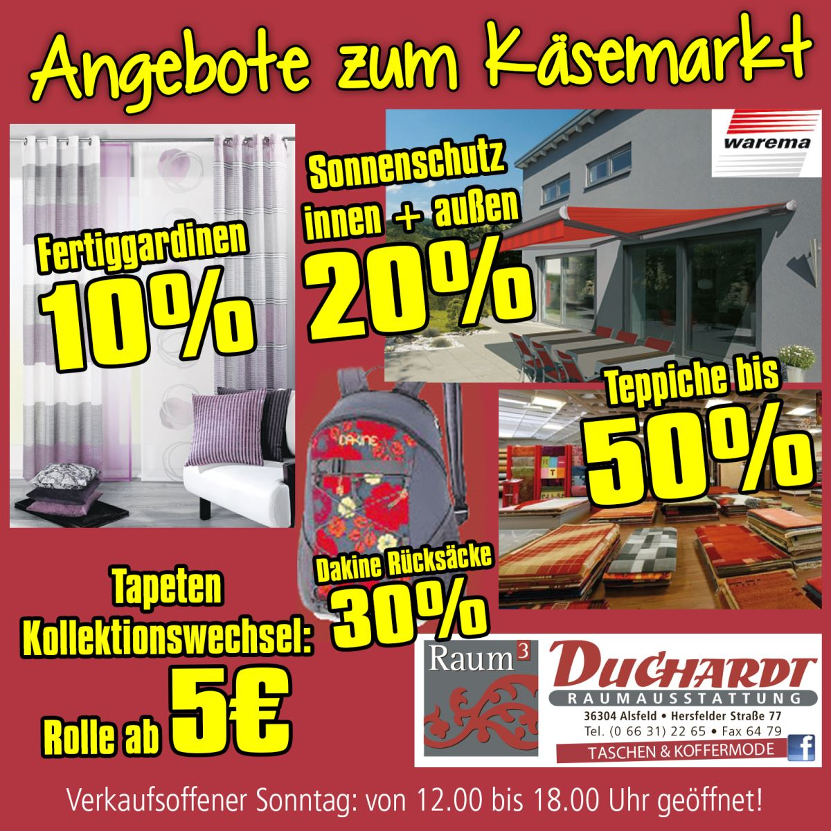 alsfelder k semarkt mit verkaufsoffenem sonntag am 24 april 2016. Black Bedroom Furniture Sets. Home Design Ideas